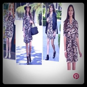 Large leopard print shirt dress ASO